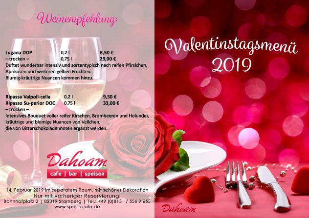 Dahoam Valentinstag Weinempfehlung